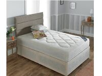 DOUBLE BED WITH ORTHO MATTRESS AND HB