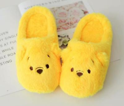 Cute Winnie The Pooh Women Winter Warm Home Plush Slippers Shoes (US size -
