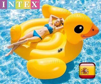Comoda colchoneta hinchable para piscina playa flotador Pato XXL INTEX