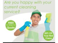 Go Green cleaning services get 10% off your first clean