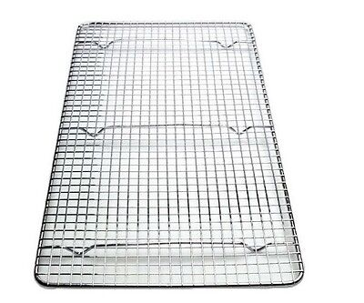 CrossWire Grid Cooling Rack, Wire Pan Grate, Baking Rack, Icing Chrome Plate -