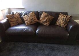 Brown leather sofa cushions inc