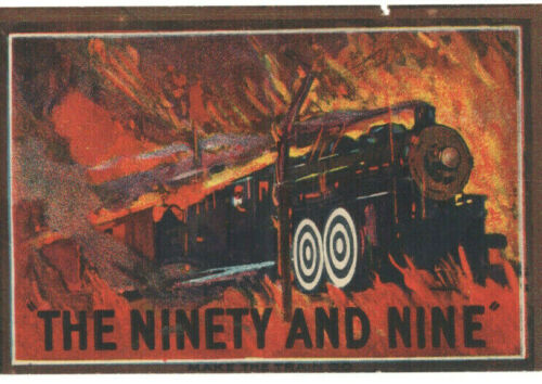 THE NINETY AND NINE - Vintage 1922 VITAGRAPH Silent RAILROAD Film MOVIE HERALD