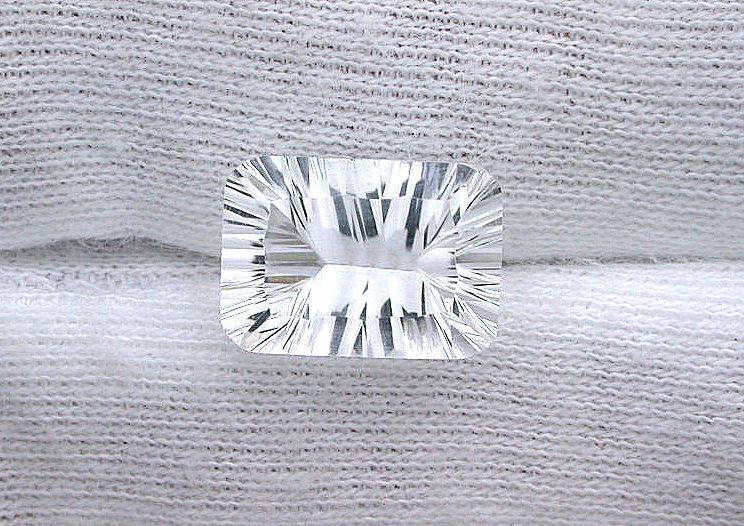 14x10 14mm x 10mm Laser Concave Cushion Brazil AAA Diamond Quartz Gemstone Gem