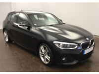 Black BMW 116d M Sport 5 door 74mpg Auto FROM £77 PER WEEK!