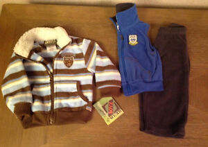 Boys size 12 months - 3 items total. One with tags. $6 for all