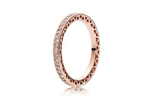 Rose Gold Heart of Pandora Ring