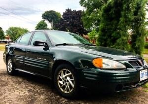 '01 Pontiac Grand Am - great cond. 96,000km+New Snow Tires!