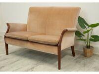 Vintage Original Parker Knoll Two Seater Sofa