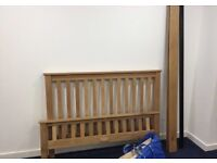 Beautiful oak double bed frame, excellent condition
