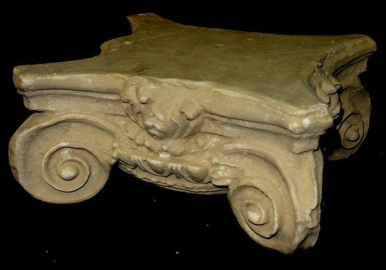 "8"" Greek Roman Ionic Capital Scamozzi Ionian Riser Column Antique Finish"