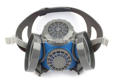 Silica Gel Half Face Anti Dust Respirator Dual Cartridge Gas Mask St-mx60g-1b
