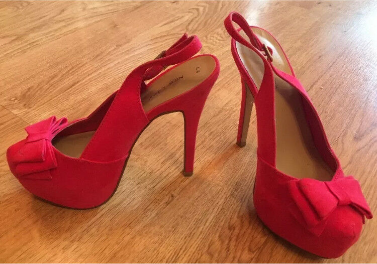 New Look Pink High Heel Shoes Size 5
