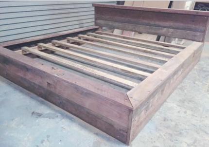 Reclaimed Hardwood King Size Platform Bed