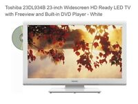 Toshiba 23-inch Widescreen Full HD 1080p LED TV with Built-In DVD Player