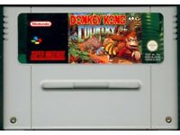 DONKEY KONG COUNTRY 1 SNES SUPER NINTENDO PAL WORKING RARE