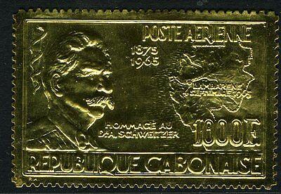 GABON-1965 1000f Gold Schweitzer Commemorative Sg 246 UNMOUNTED MINT V10511