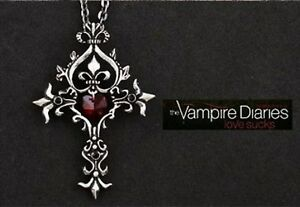 Vampire-Diaries-Red-Sacred-Heart-Crystal-Memorial-Cross-Necklace-Gothic-Silver