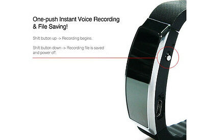 Voice Activated Audio Recorder 007 Style Wearable Professional Smart Wrist Band