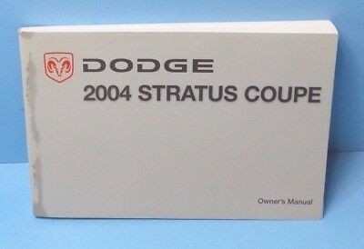 2004 Dodge Stratus Owners Manual - 04 2004 Dodge Stratus Coupe owners manual