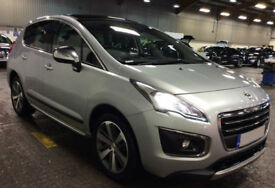 PEUGEOT 3008 CROSSOVER 1.6 BLUEHDI 120 ALLURE  GT LINE 1.2  FROM £45 PER WEEK!