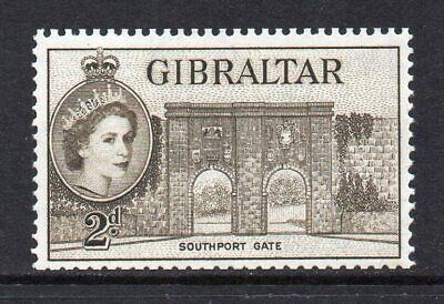 Gibraltar - 1953-59, 2d Deep Olive-Brown (sg148) MNH