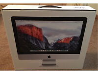 """IMac 21.5"""" i5 with 1TB hard drive, late 2015 model, as new."""