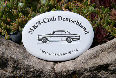 ALTE EMAILLE AUTO CLUB PLAKETTE # MERCEDES BENZ /8 COUPÉ W 114 CLUB DEUTSCHLAND