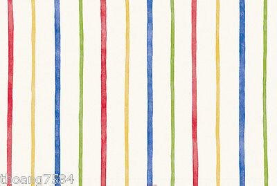 Primary Multi Color Rainbow Blue Red Yellow Green Thin Stripe Wallpaper GU93131 Primary Stripe Wallpaper