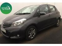 £172.10 PER MONTH GREY 2014 TOYOTA YARIS 1.33 VVT-i ICON + PETROL MANUAL
