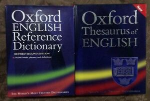 Oxford English Reference Dictionary and Thesaurus