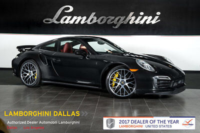 2014 Porsche 911 Turbo S Coupe 2 Door Rr Camera Power Heated Ventilated Seats Park Assist Sunroof Power Steering Plus