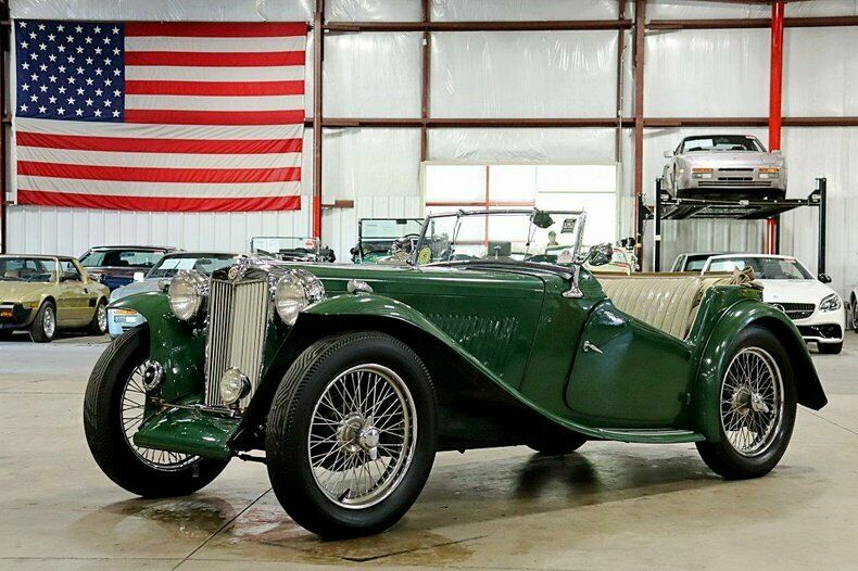 1947 MG TC  95135 Miles British Racing Green Convertible 4-Cylinder 4-Speed Manu