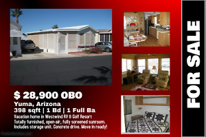 Vacation Home for Sale in Yuma, Arizona, (Top RV & Golf Resort)