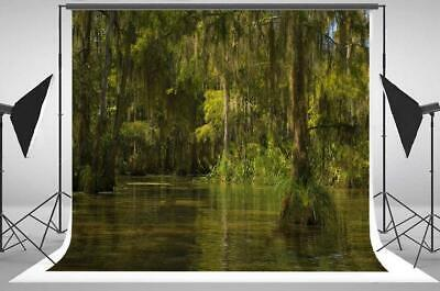 Swamp Backdrop (7x5FT Swamp Bayou Honey Island river backdrops Jungle party wall)