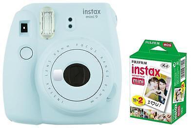 Fuji Instax Mini 9 Eisblau / Blau inkl. Instax Film 20 Aufnahmen ! Sofortbild