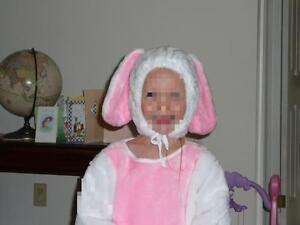 Easter bunny costume / bunny costume - fits age 4/5 approx