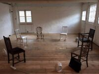 Rehersal Space / Studio for Dancers / Plays / Projects / Art Available to Hire by the Day