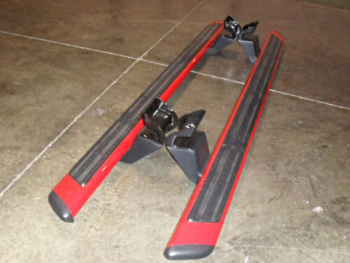 Oem Ford F  Extended Cab Tubular Running Board Race Red Left Right Used