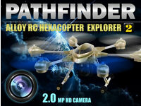 Pathfinder 2 5.8G FPV 6 Axis Gyro 4.5CH 2.4G RC Hexacopter with 2.0MP HD Camera Drone Golden