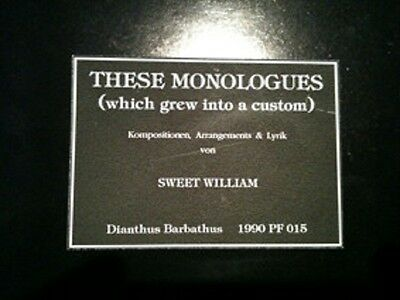 SWEET WILLIAM These Monologues - LP / Vinyl / Limited 56