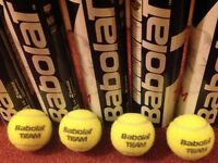 10 cans of Babolat tennis balls - Excellent condition - RRP £50