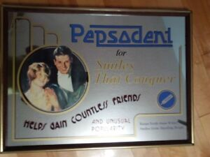 Pepsodent Mirror Art, Vintage, Made in Japan
