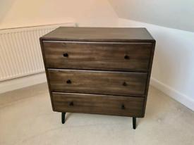 NEXT walnut chest of drawers