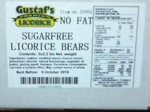 Sugar Free  Licorice BEARS ( GUSTAFS)sugar free candy 2.2 pound