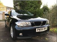 Black BMW 1 Series 116i SE 86000 miles - open to offers