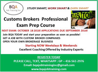 JOIN CUSTOMS EXAM.PREP COURSE ASAP TO PASS EXAM IN OCT 18