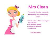Domestic cleaning service in Headingley and surrounding areas