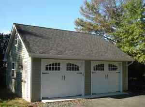 Garage for storage with alarm and with or without heat