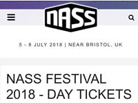 2 x Nass Festival Sunday day tickets. Damien Marley